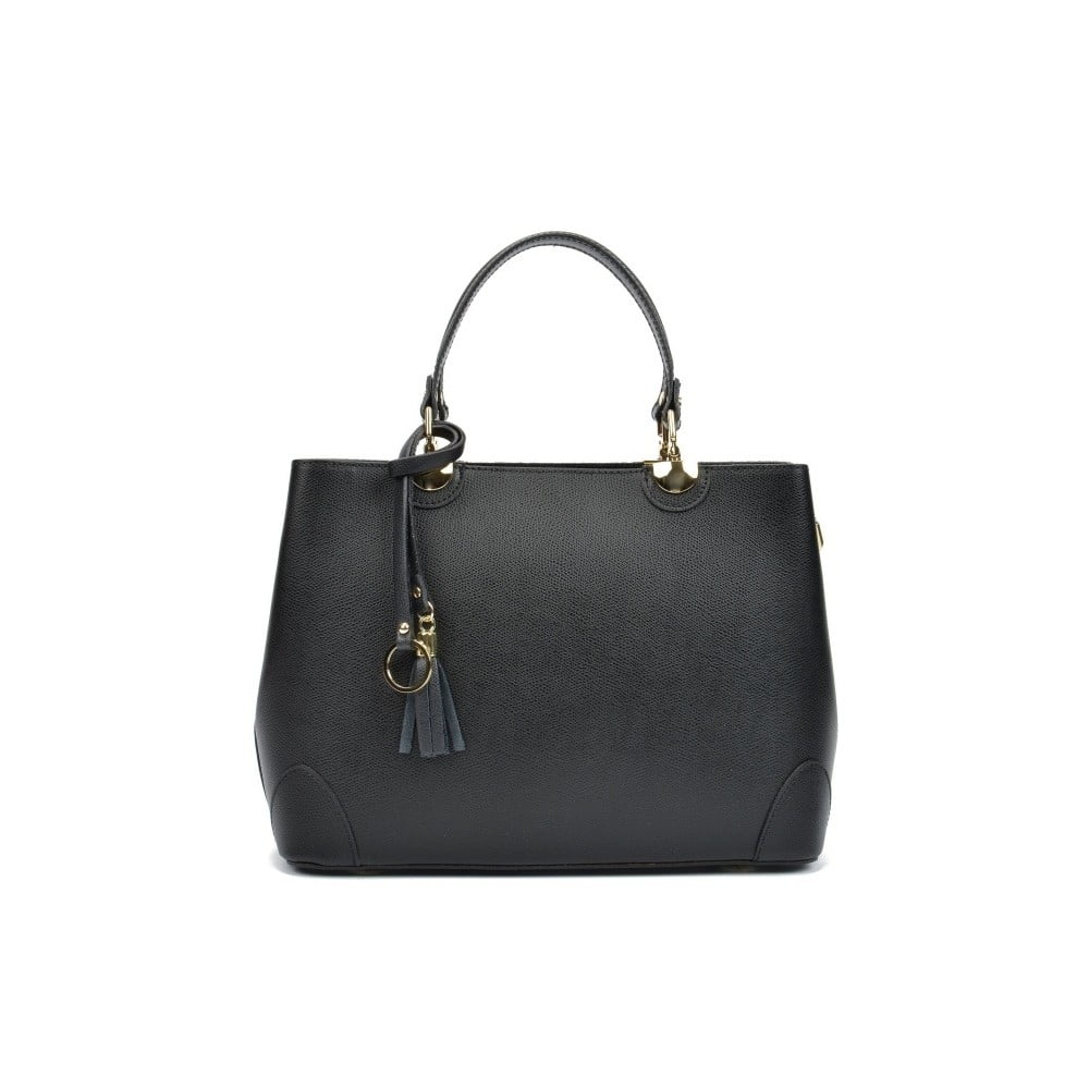ba92e384c6 Čierna kožená kabelka Isabella Rhea London Nero