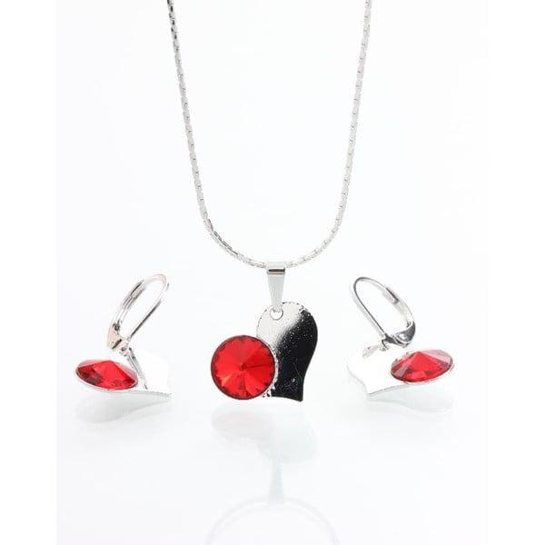 Set náhrdelníka a náušníc Yasmine Red Heart
