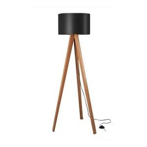 Stojacia lampa Tripod Black/Walnut