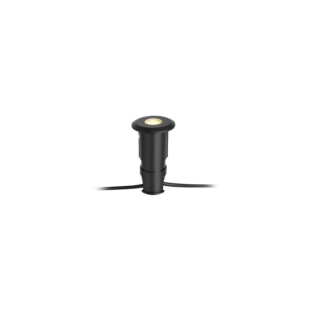 Čierne zápustné svietidlo Markslöjd Garden 24, ø 60 mm