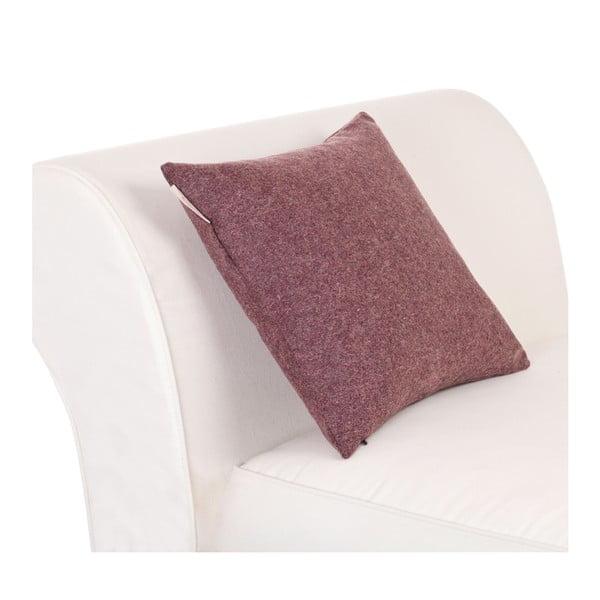 Vlnený vankúš Tweed 40x40 cm, fialový
