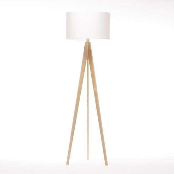 Biela stojacia lampa Artist, breza, 150 cm