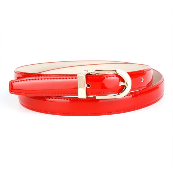 Dámský kožený pásek 4301L Red, 90 cm