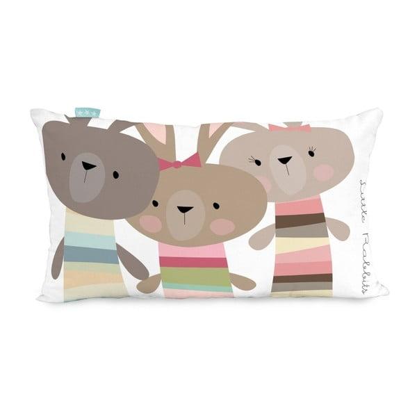 Bavlnená obojstranná obliečka na vankúš Little W Little Rabbits, 50x30cm