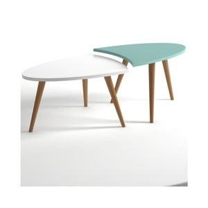 Modro-biely konferenčný stolík Monte Real