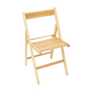 Drevená skladacia stolička Valdomo Milleusi Natural