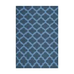 Vlnený koberec Safavieh Salé, 152 x 243 cm, modrý