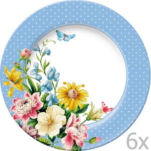 Sada 6 tanierov Katie Alice English Garden Blue, 20 cm