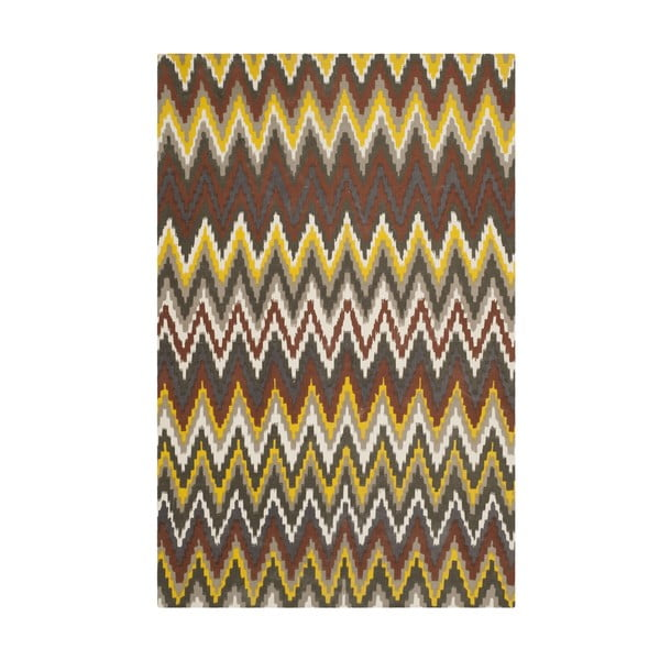 Hnedý koberec Safavieh Lojento, 182x121cm