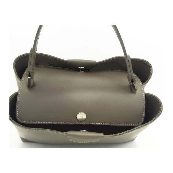 Kožená kabelka Numa Taupe
