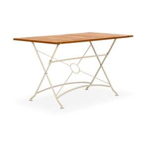 Biely skladací záhradný stôl z agátového dreva SOB