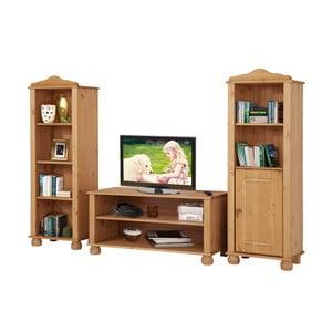 Trojdielna obývačková sada z borovicového dreva Støraa Ella