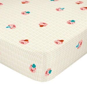 Svetložltá elastická bavlnená plachta Mr. Fox Piggys, 90 × 200 cm
