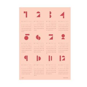 Nástenný kalendár SNUG.Toy Blocks 2017, ružový