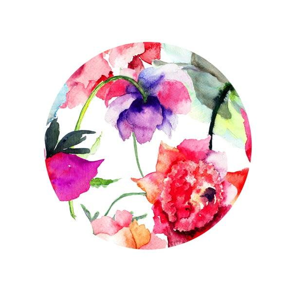Sada 2 odkladacích stolíkov Flower Mood, 35 cm + 49 cm