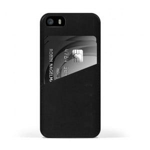 Peňaženkový obal Mujjo na telefón iPhone 5 Black