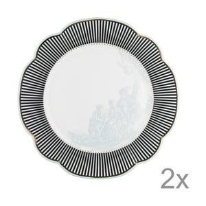 Porcelánový tanier  Toile od Lisbeth Dahl, 29 cm, 2 ks