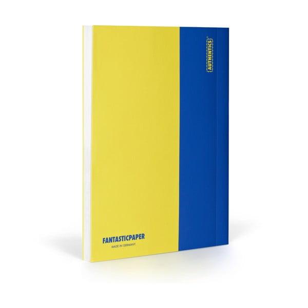Zápisník FANTASTICPAPER XL Lemon/Blue, štvorčekový