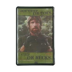 Ceduľa Chuck Norris, 20x30 cm