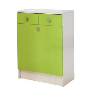 Zelená skrinka na bielizeň 13Casa Click