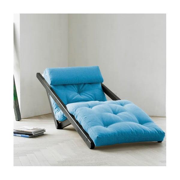 Leňoška Karup Figo Wenge / Horizon Blue,  70 cm