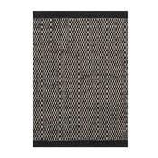 Vlnený koberec Linie Design Asko Black, 170x240cm