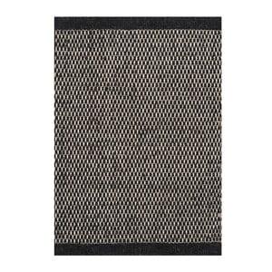 Vlnený koberec Asko, 140x200 cm, čierny