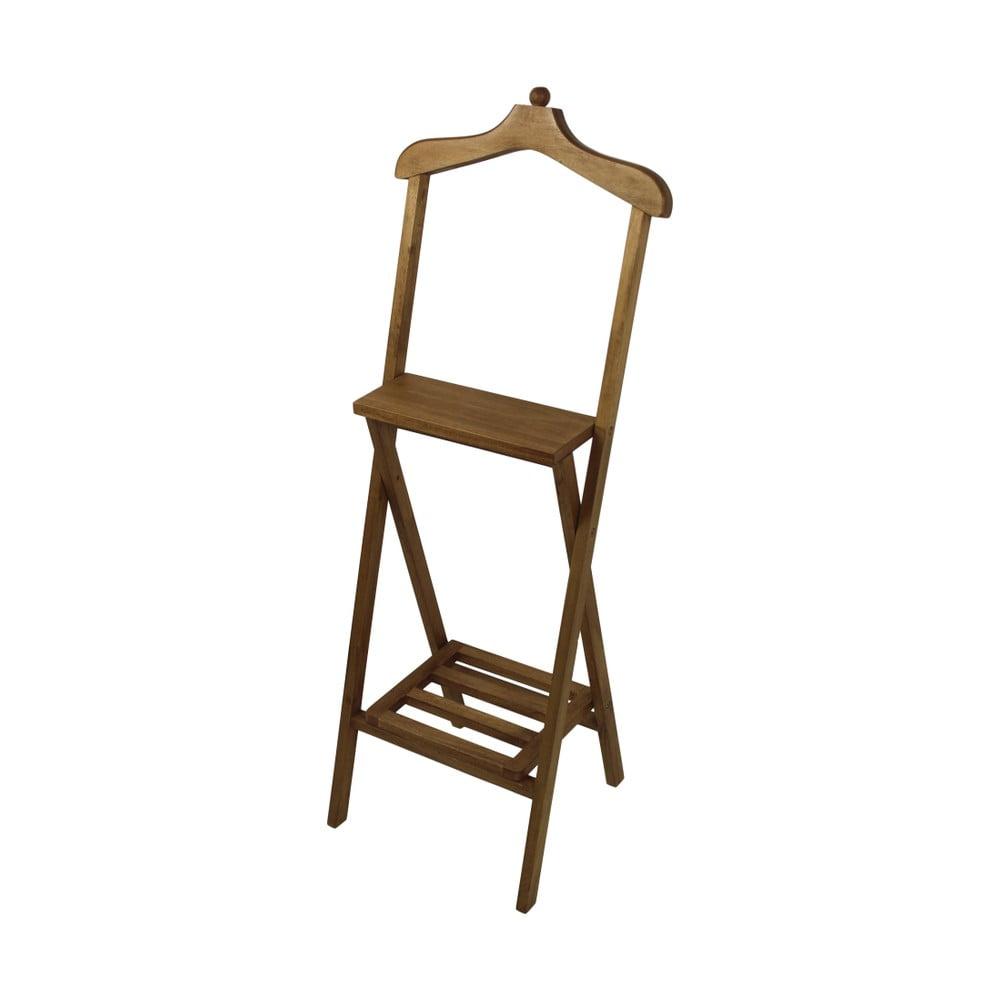 Hnedý nemý sluha z mahagónového dreva HSM Collection Dressboy, výška 120 cm
