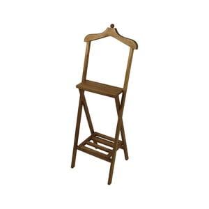 Hnedý nemý sluha z mahagónového dreva HSM Collection Dressboy, výška 120cm