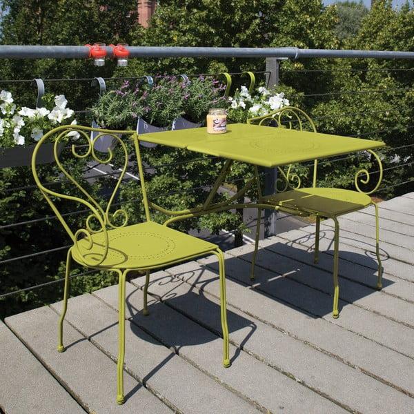 Skladacia lavica so stolíkom na balkón Nature, zelená
