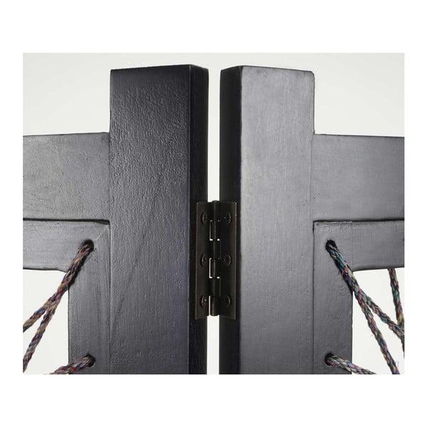 Paraván Room Ornament Black, 161x170 cm