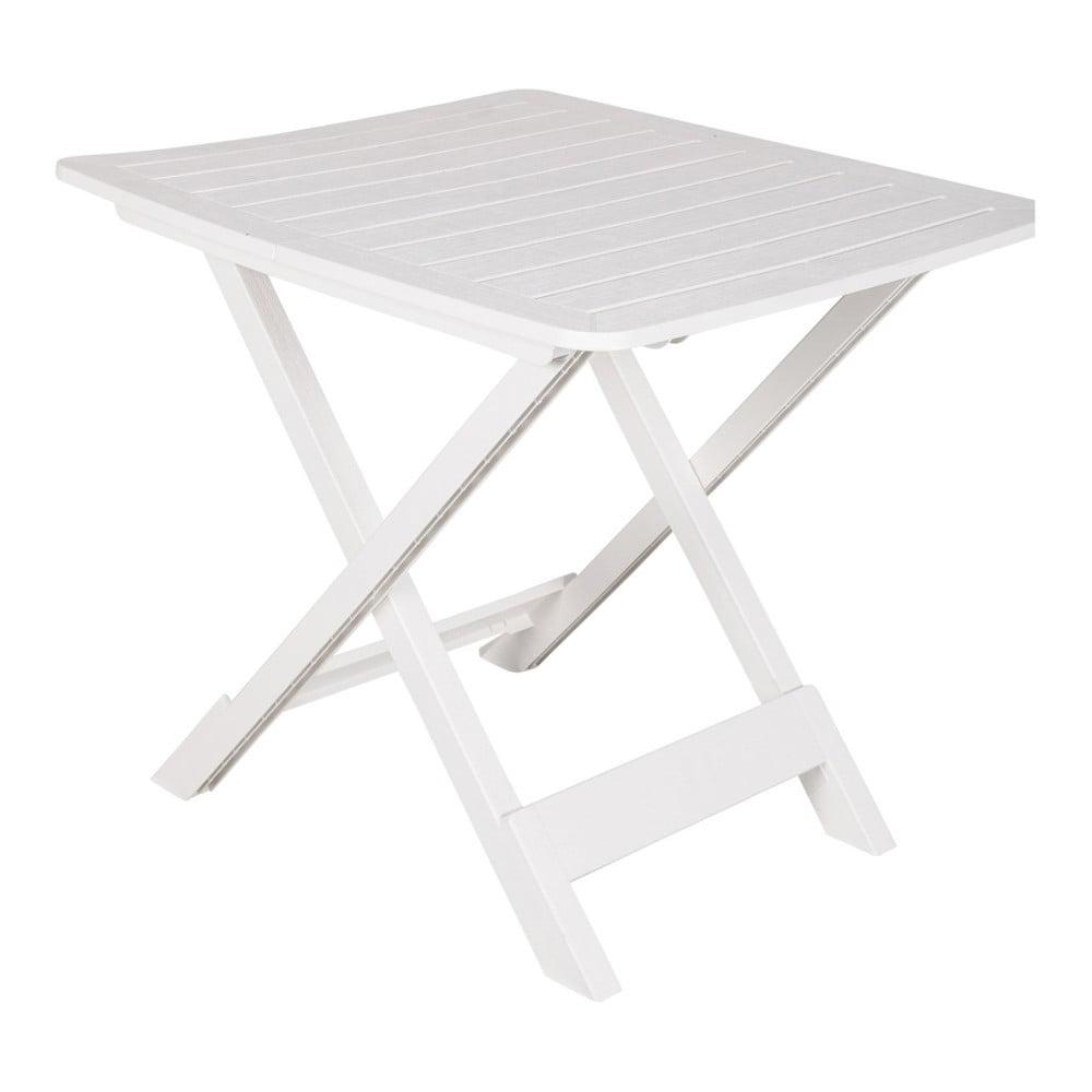 Biely skladací záhradný stolík Crido Consulting Hunna