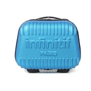 Svetlomodrý kozmetický kuforík s potlačou INFINITIF, 12l