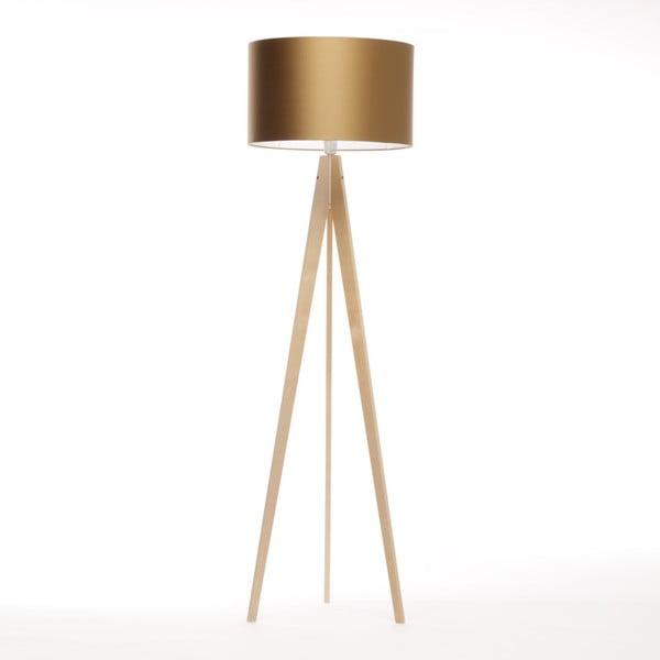Zlatá stojacia lampa 4room Artist, breza, 150 cm