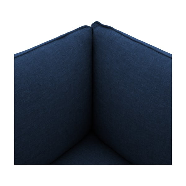 Tmavomodré kreslo VIVONITA Cube, pravá strana