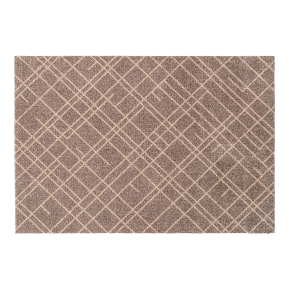 Hnedobéžová rohožka tica copenhagen Lines, 90 x 130 cm