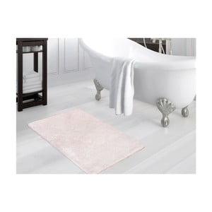 Pudrovoružová kúpeľňová predložka Smooth, 80×140 cm