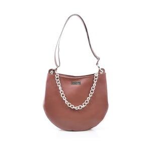 Kožená kabelka Melia, hnedá