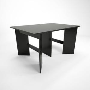 Čierny drevený rozkladací jedálenský stôl Artemob Bruno