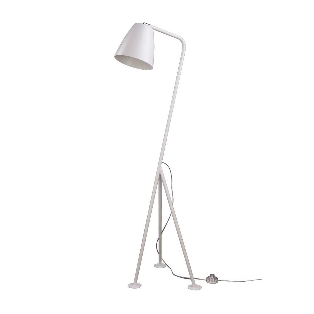 Biela stojacia lampa Nørdifra Omega