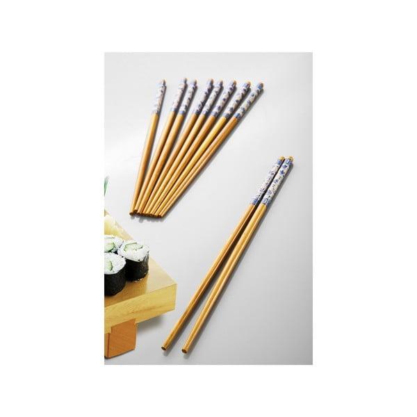 Sada 5 bambusových párov paličiek Fettucini