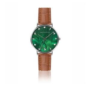 Dámske hodinky s hnedým remienkom z pravej kože Emily Westwood Grace