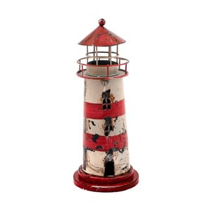 Červený svietnik Dakls Lighthouso, výška 23 cm