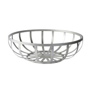 Dekoratívny košík Metal Silver, 28,5x10,5 cm
