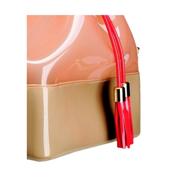 Púdrovoružová plastová kabelka Kartell Grace K
