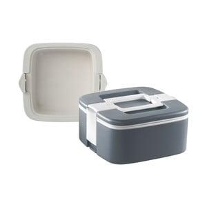 Sivý termo box na obed Enjoy, 0,75 l