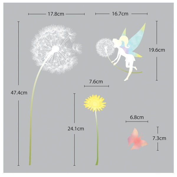 Sada samolepiek Ambiance Dandelion and Little Fairy