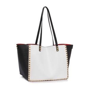Čierno-biela kabelka L&S Bags Av Niel