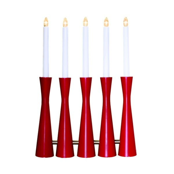 Červený LED svietnik Midja