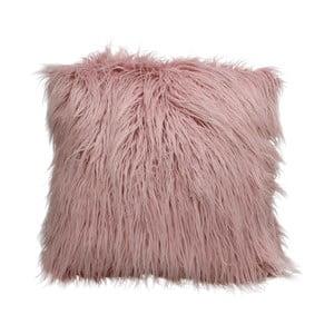 Ružový chlpatý vankúš HF Living Fluffy, 45 × 45 cm